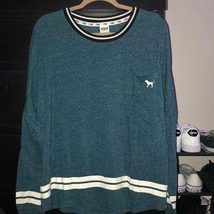 victoria's secret PINK blue spirit jersey!